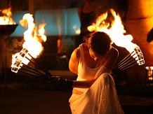 Brennende Frau Kiel
